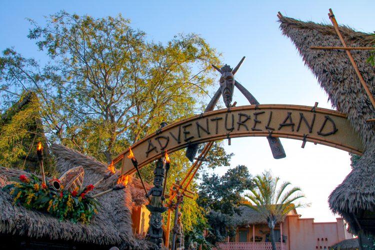 how many days at DIsneyland adventureland sign