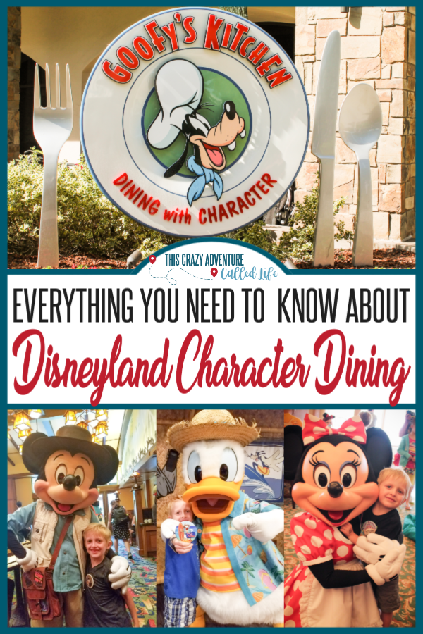 Disneyland Character Dining is a great way to meet a ton of characters, get some fun pictures, and fill up on yummy Disney food during your vacation. But which one is right for you? This family has eaten at all the character meals and has insider tips and hacks for making the most of you meal. Check out this complete guide to character dining including what adults and kids might like, which ones have Mickey or Minnie Mouse, and more. #Disneyland #DisneylandwithKids #ThisCrazyAdvenetureCalledLife