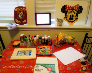 Have an Art Party that is Disney Inspred