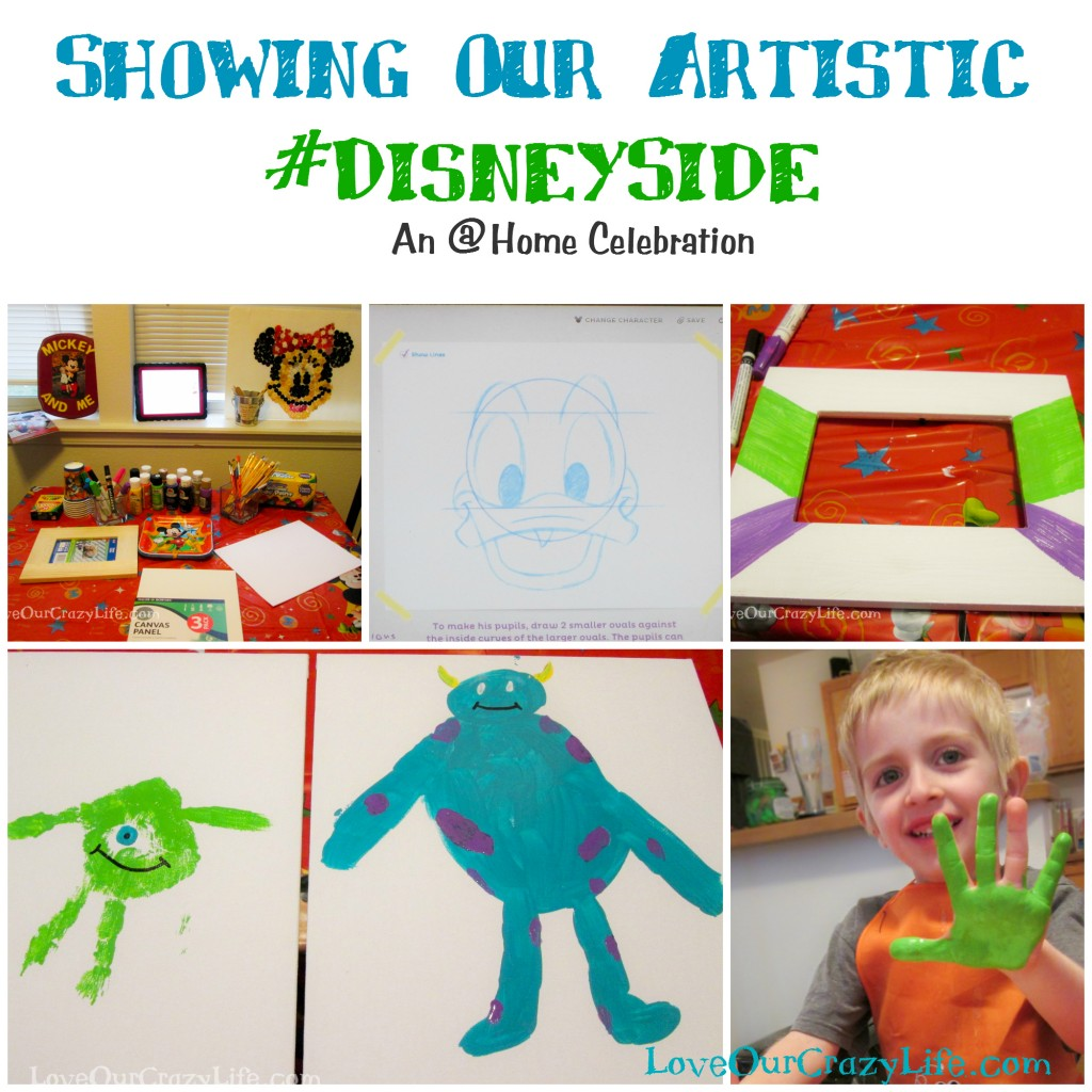 Throw an art party to show your #DisneySide