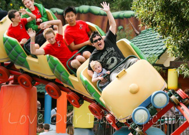 Gadget's Go Coaster in Mickey's Toontown in Disneyland