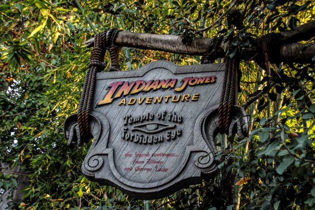 Indiana Jones ride in Adventureland in Disneyland