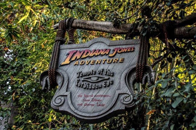 Indiana Jones ride in Adventureland in Disneyland