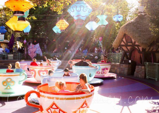 Teacup ride in Fantasyland in Disneyland