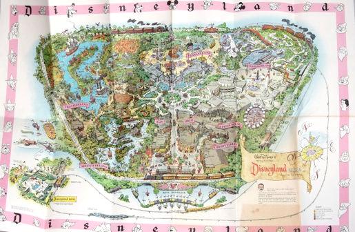 1961 Disneyland Map