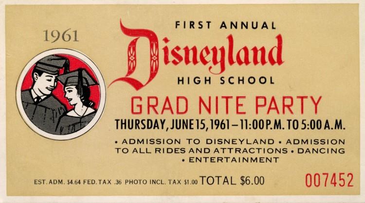 Disneyland 1961- First Grad Nite