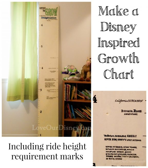 Growth chart with ride height requirements