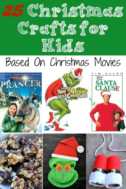 25 Christmas Crafts for Kids based off of Christmas Movies