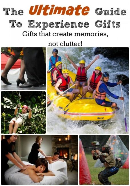 The ultimate guide to experience gifts. Create memories not clutter