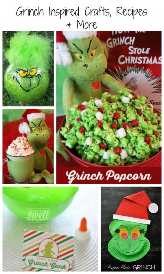 How The Grinch Stole Christmas crafts, recipes and more