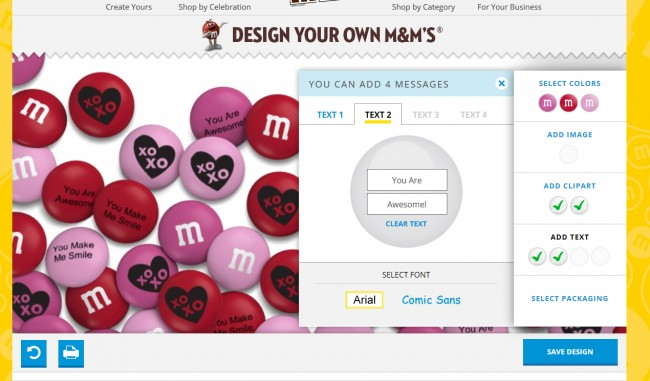 Personalized M&Ms will sweeten up your valentine's