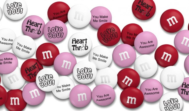 Personalized M&Ms for Valentine's Day