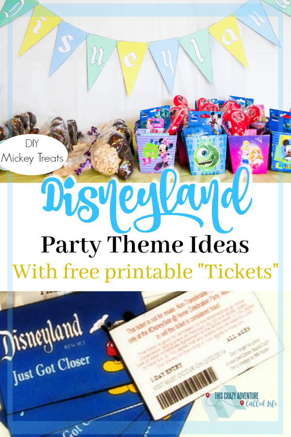 Disney lovers will love these Disneyland party theme ideas. Transport your guests to the happiest place on earth. Great for birthdays, or just because. #party #birthday #Disney #Disneyland #FreePrintable