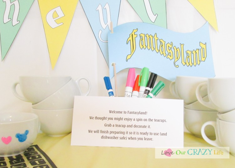 Disneyland Themed Party includes decorating your own teacups