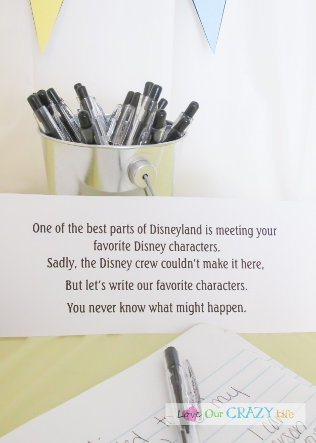 Throw a Disneyland themed party. Have guests write to characters and a few weeks later they will get a surprise in the mail.