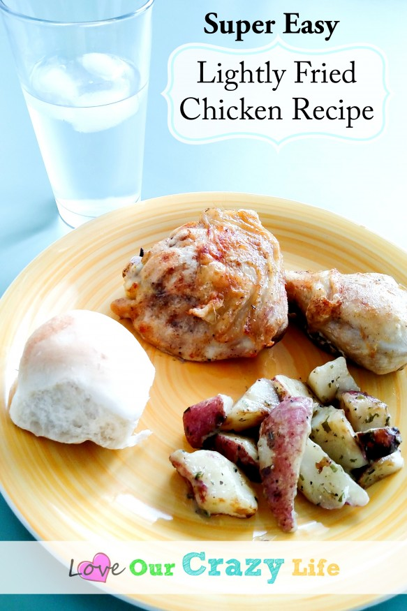 Not quite baked, not quite fried, somewhere in between but SO YUMMY! And easy!