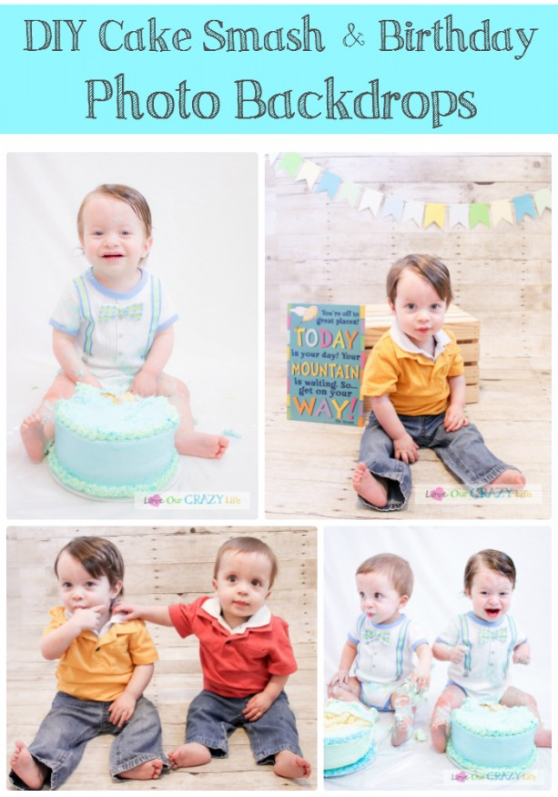 How to make your own backdrops for birthday and cake smash photos plus other tips!
