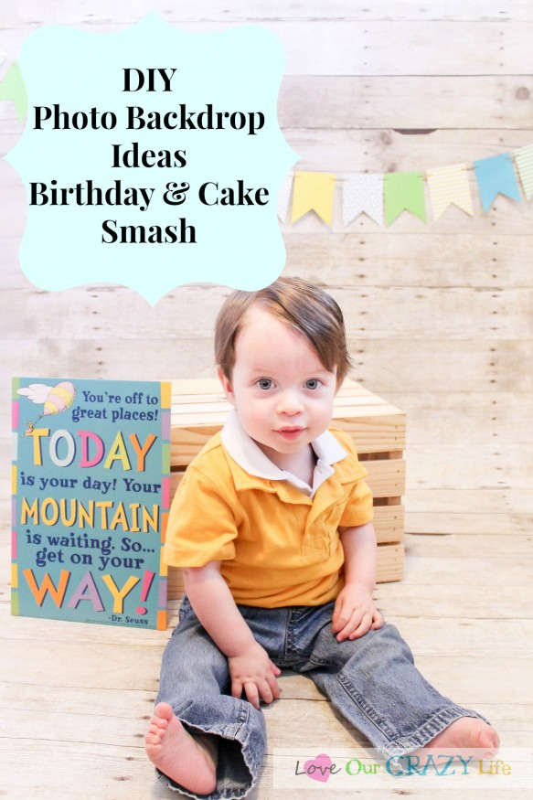 DIY Photo backdrop ideas for birthdays and cake smash. Plus a lot of great tips, even if you are hiring a photographer.