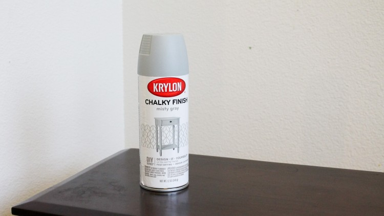 What? Chalk paint you can spray on! No way. Check out this awesome console table remake using this spray on product.