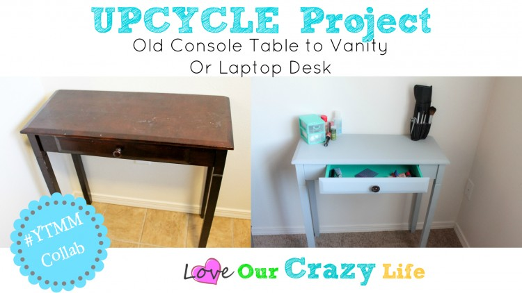 Upcycle an old console table. Great makeover but the real story is the easiest way to paint furniture EVER!