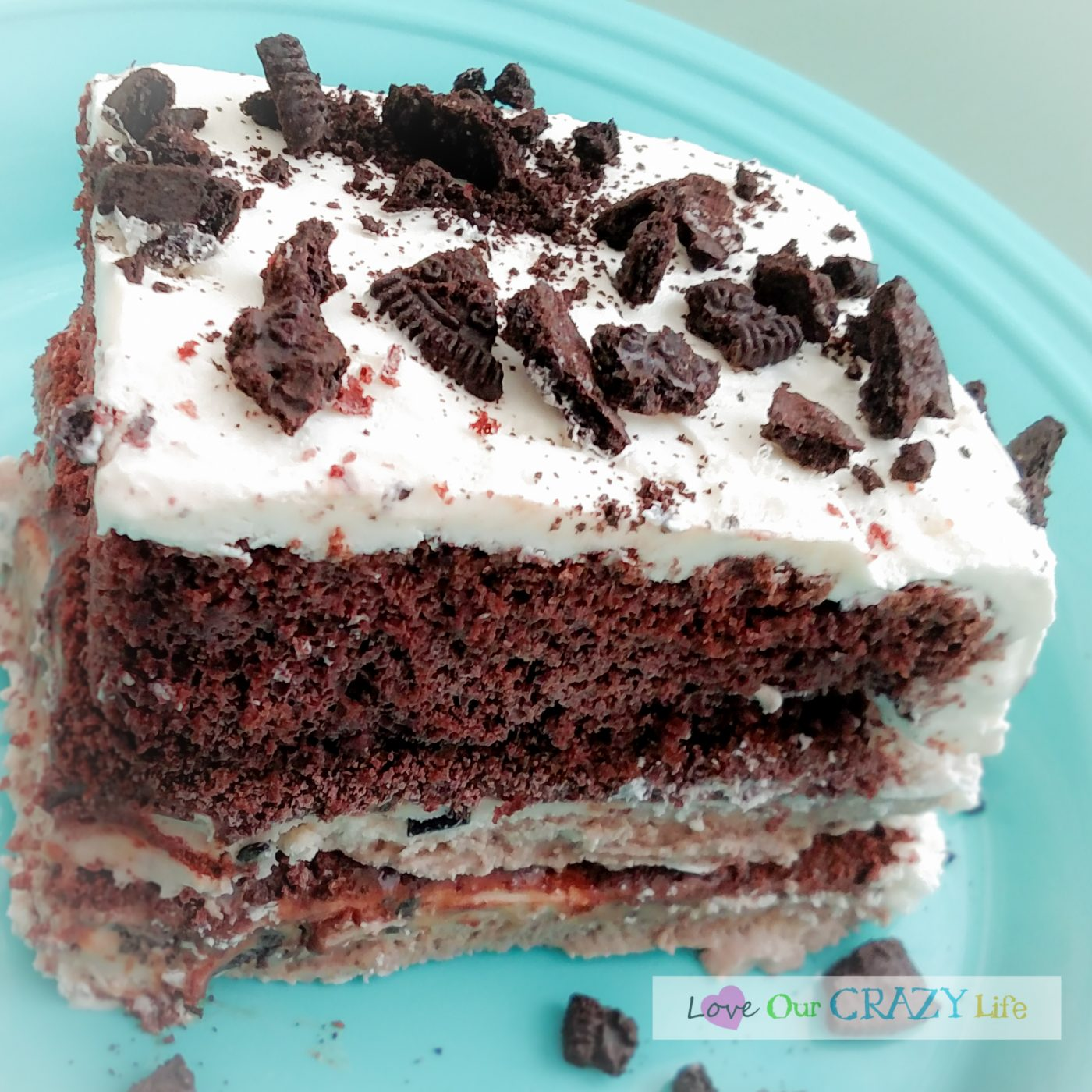 Delicious 7 Layer Ice Cream Cake