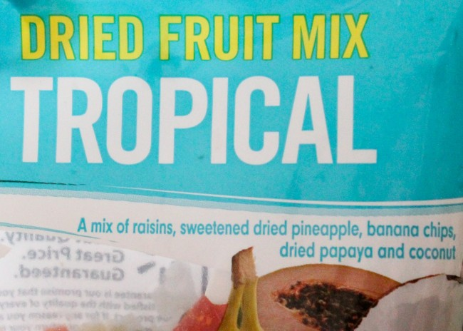 Tropical dried fruit and other ingredients make this super fun Jungle Safari Trail Mix