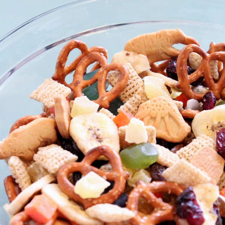 Jungle Safari Trail Mix is perfect for a jungle themed party or even a zoo outing