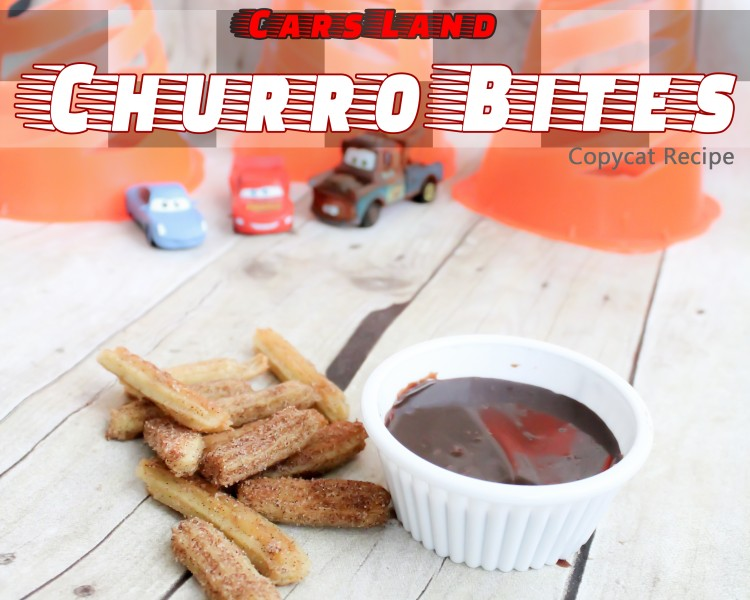 "Check out this copycat recipe for a favorite Cars Land ""cone-coction"". These Churro Bites are sure to please!"