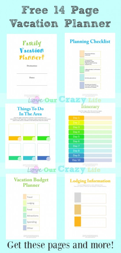 Free Vacation Planning Printable