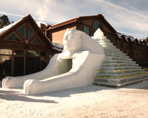 Snow Sculpture McCall Winter Carnival