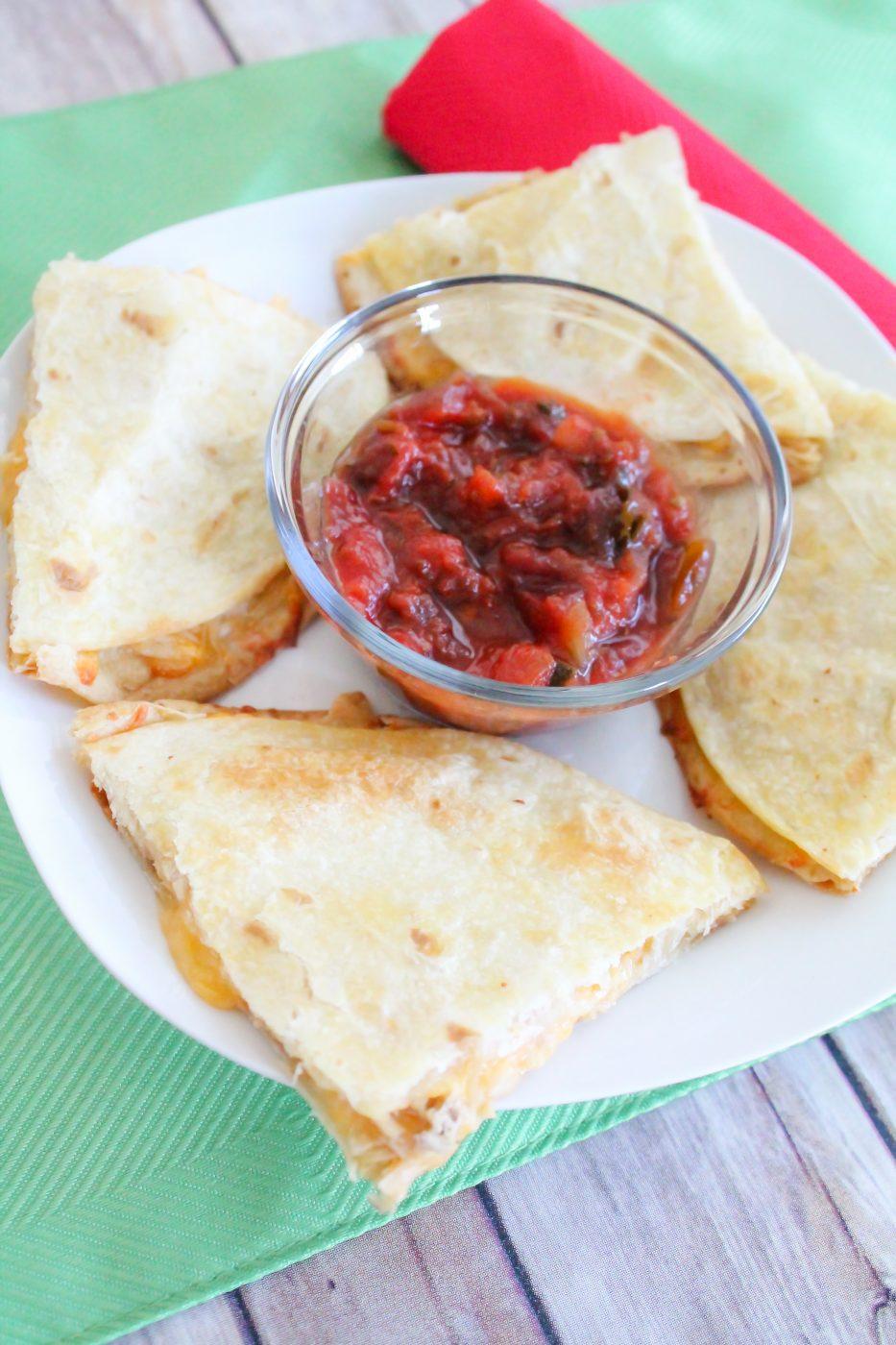 Easy Peasy Chicken Quesadillas