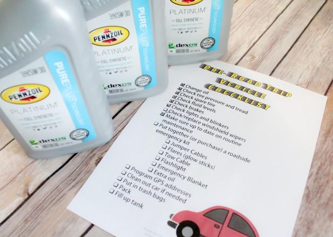 FREE printable pre-road trip checklist