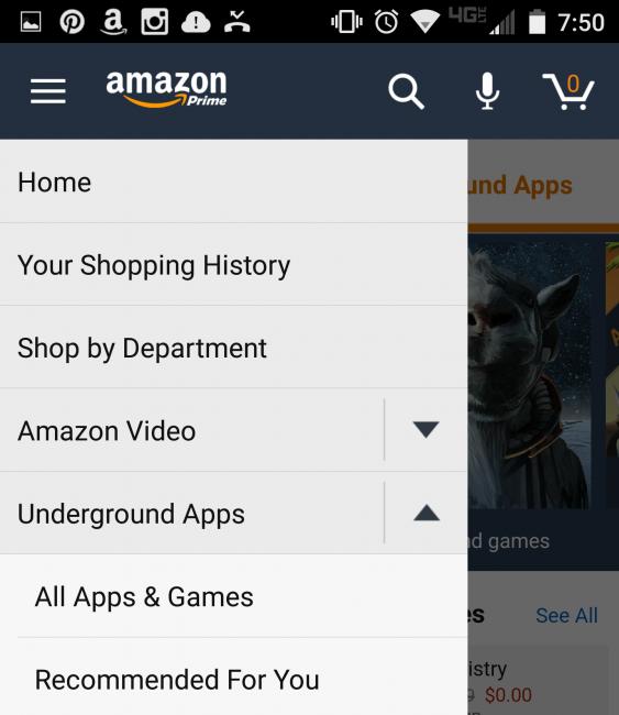 Summer Apps Amazon Underground