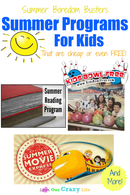 Free or cheap summer programs for kids