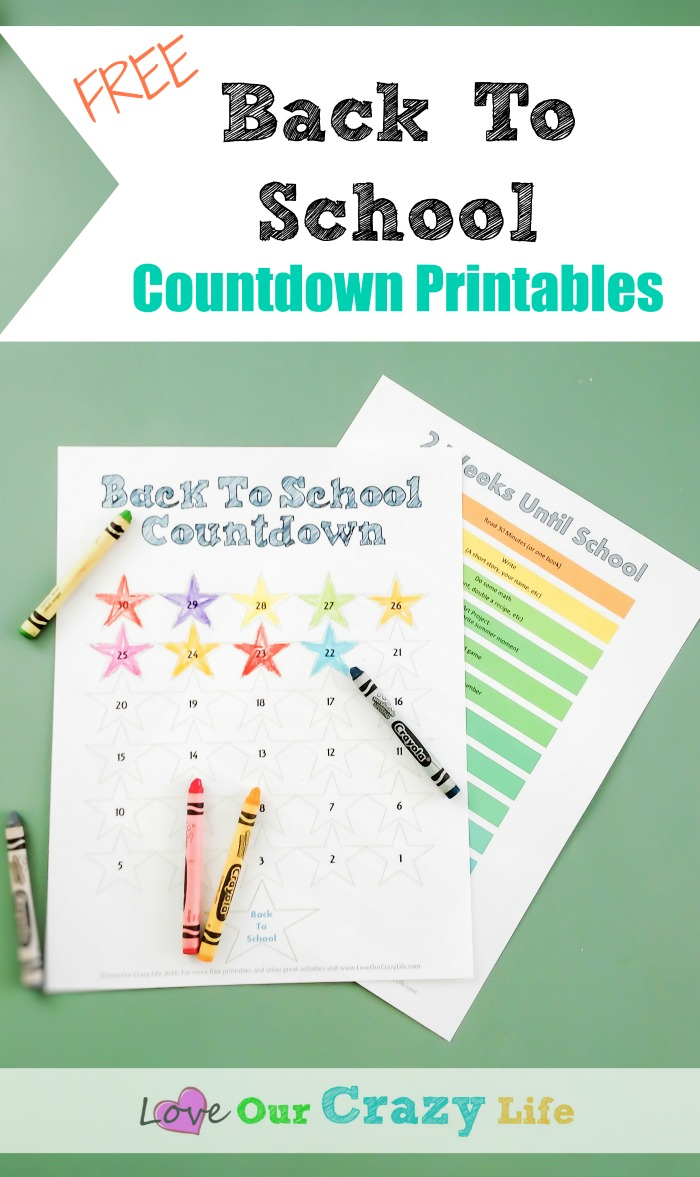 picture relating to Countdown Printable called No cost Again Towards College or university Countdown Printable This Mad