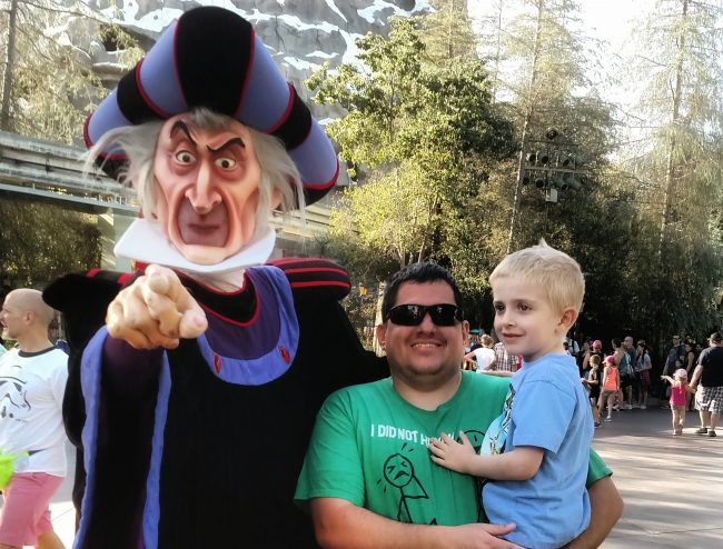 Frollo during a visit Disneyland in fall