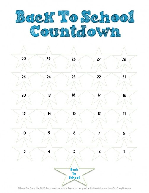 graphic regarding Countdown Printable referred to as Absolutely free Back again Towards Higher education Countdown Printable This Outrageous