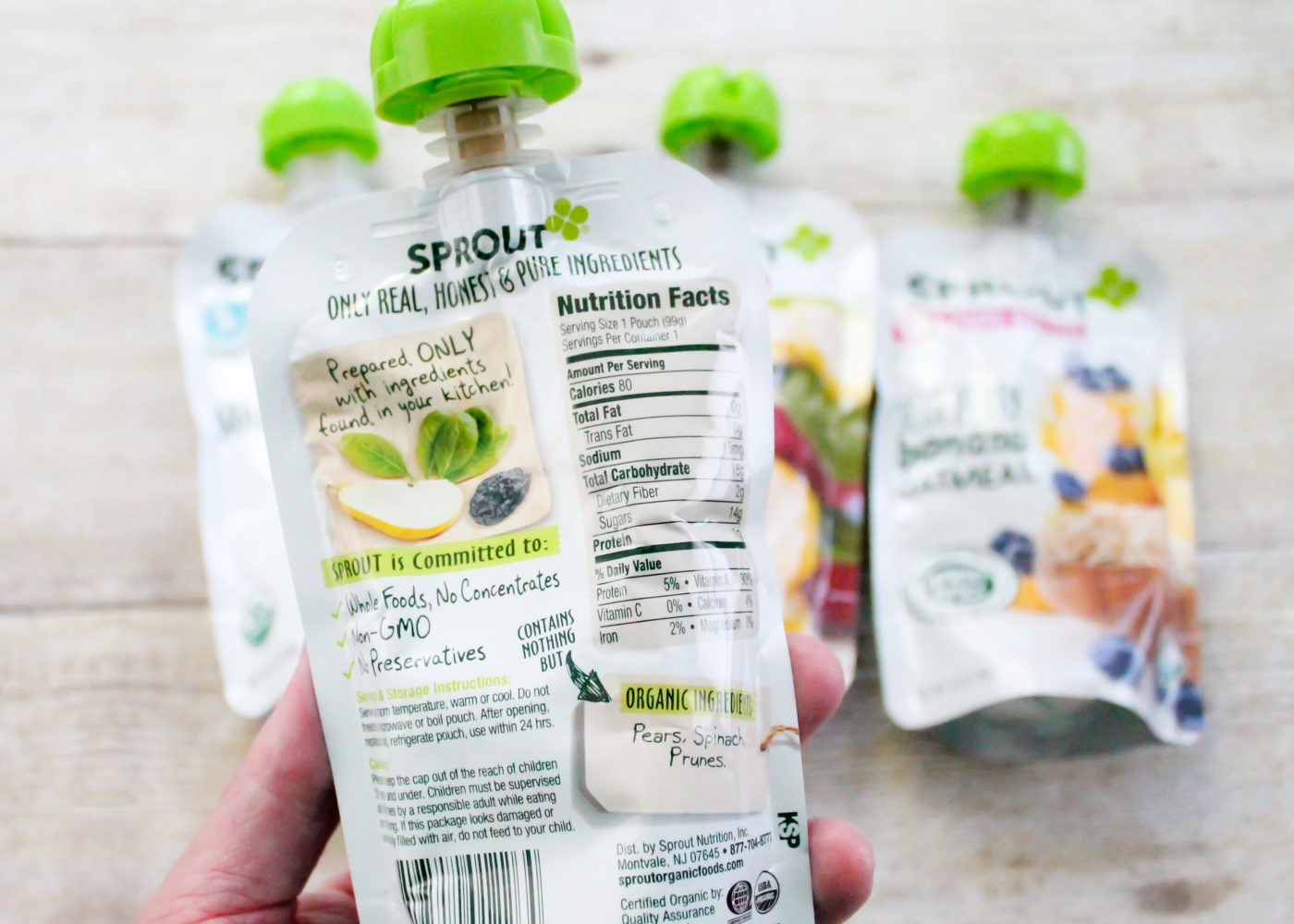 Sprout Organics Keep it honest, Make it real