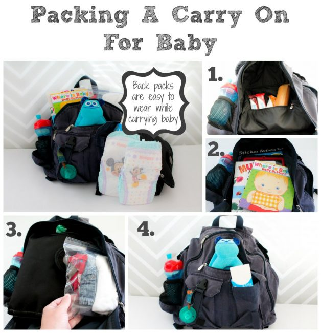 Follow our steps for packing a carry on bag for a baby for your next flight with a baby or toddler in tow.