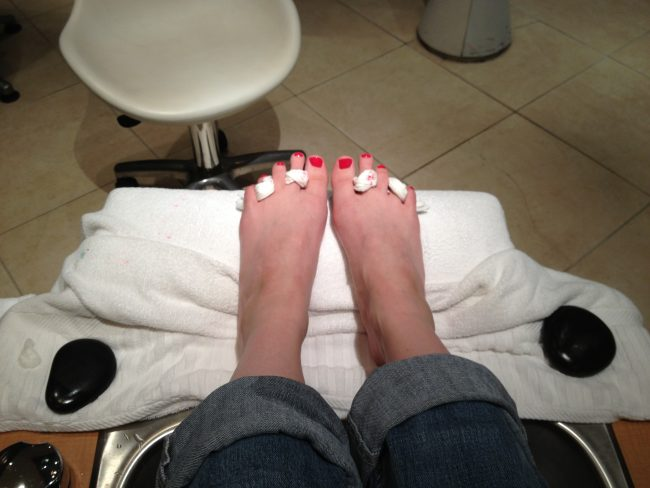 Back to school time means YOU TIME! Get a pedicure