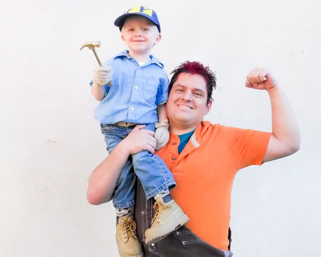 Father and Son Wreck It Ralph costume