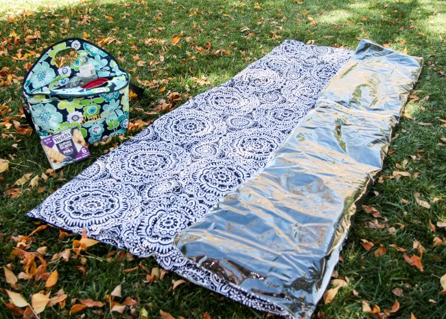 Folding your picnic blanket step 1