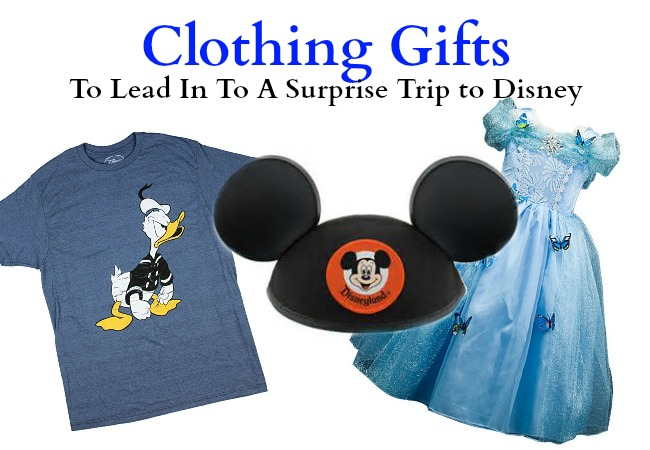 Clothing gifts to lead to a surprise Disney Trip reveal