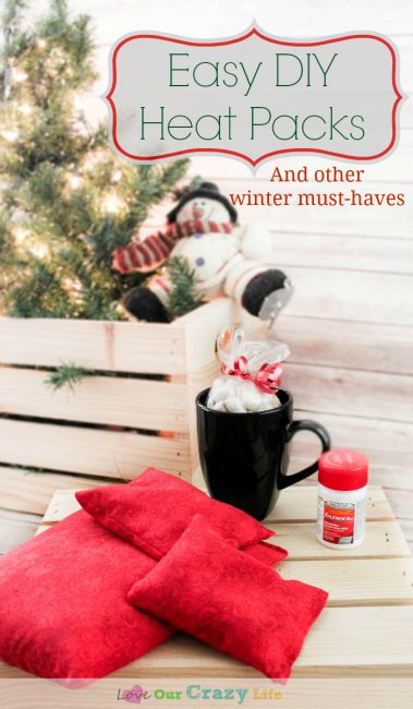 Easy DIY Heat Packs are the perfect beginner sewing project and great gifts.