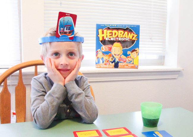 Family Game Night with Headbanz™ Electronic