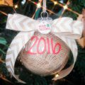 DIY Christmas Ornament Rustic Chic with Burlap