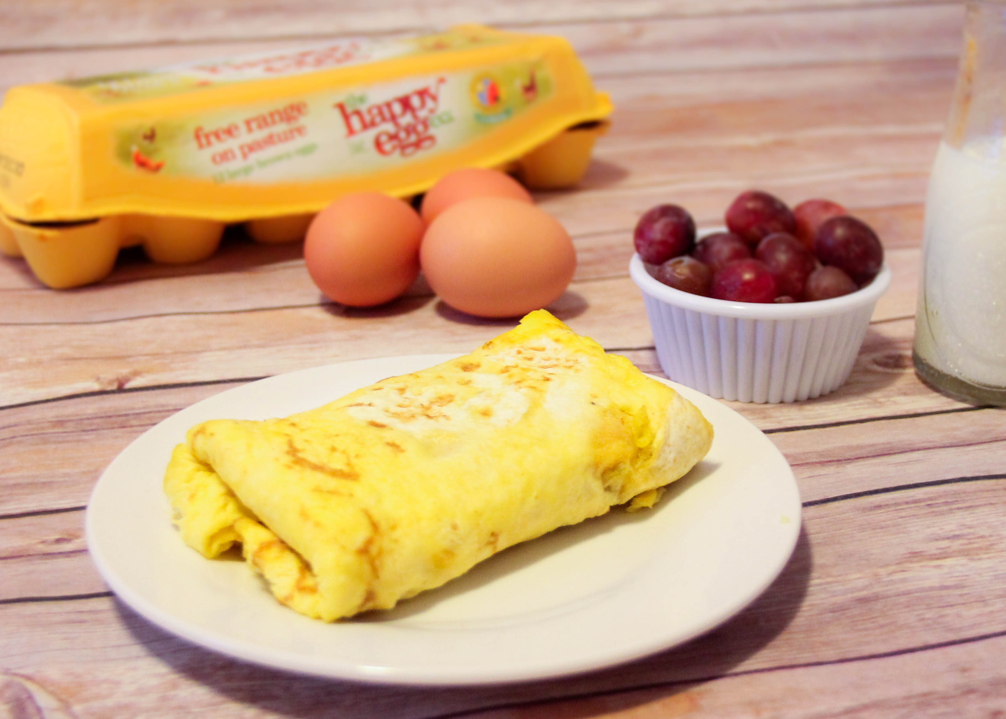 Easy Car Free Breakfast Wrap- perfect for on the go families