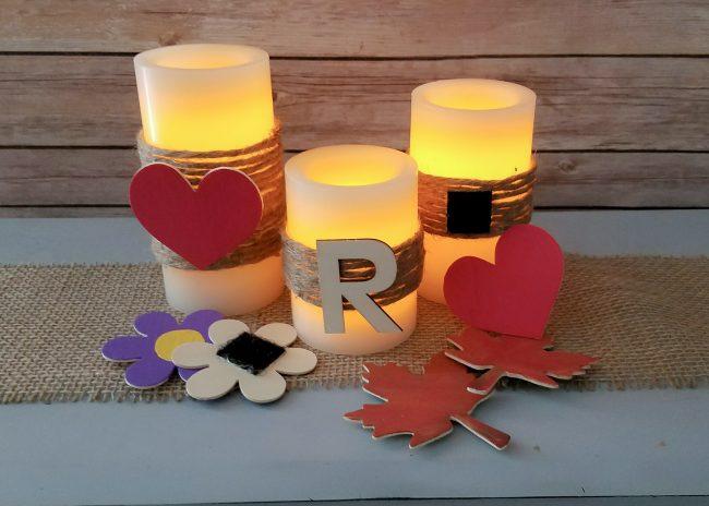 DIY Rustic Candles
