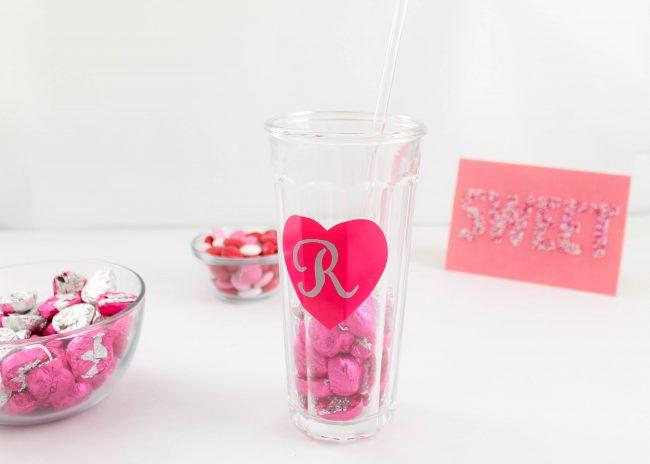 DIY candy milk shake valentines