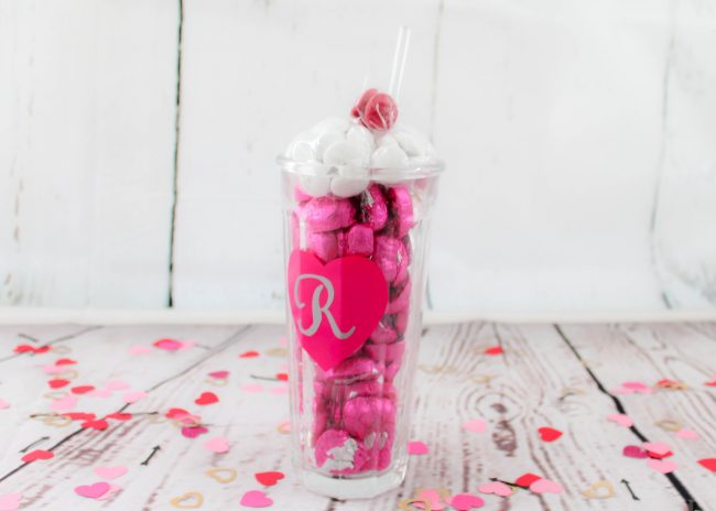 DIY Candy Milk Shake for Valentine's Day